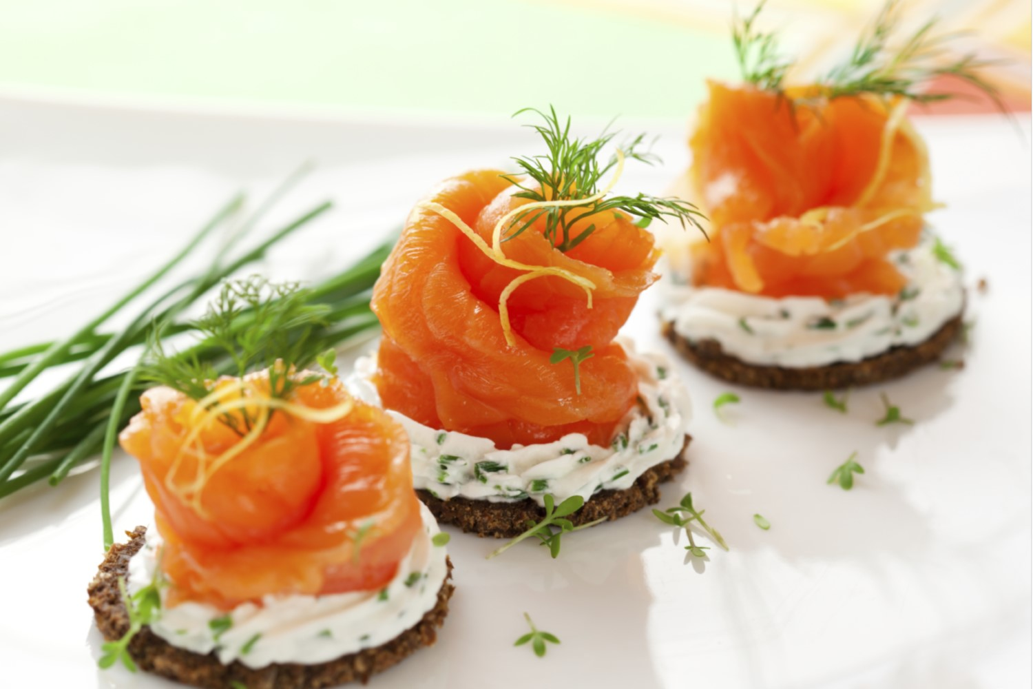 Food - Salmon Canapes - 1500x1000
