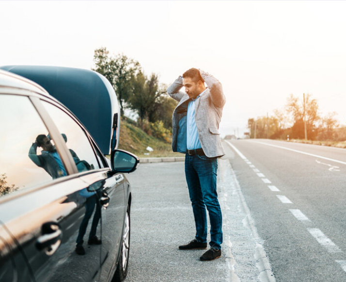 Man with Car Trouble